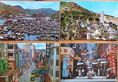 Hong Kong 1965 Five Used Picture Post Cards & 3 Unused Cards Of Peninsula Hotel