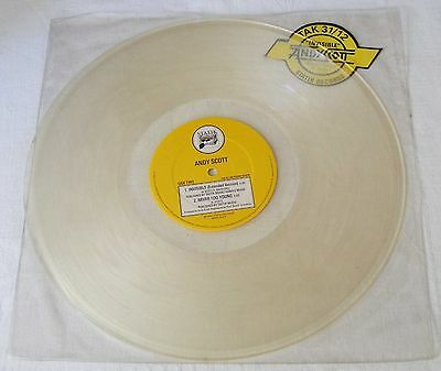 """ANDY SCOTT of The Sweet UK 1984 CLEAR VINYL 12"""" Single INVISIBLE        NEW"""