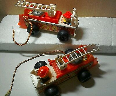 vintage toy, Fisher Price fire engine