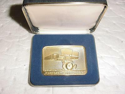 GOLD John Deere Max-Emerge One Million Rows Buckle 1984 Limited Edition #6563