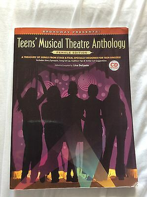 Teens' Musical Theatre Anthology Book & CDs Female Edition Singing Lessons