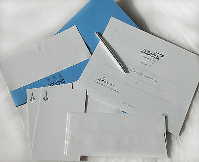 CONCORDE Official Gift Stationary Set with Pen by SMYTHSON of BOND STREET.  NEW