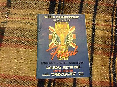 Original 1966 World Cup Final Programme England V Weat Germany Good Condition.