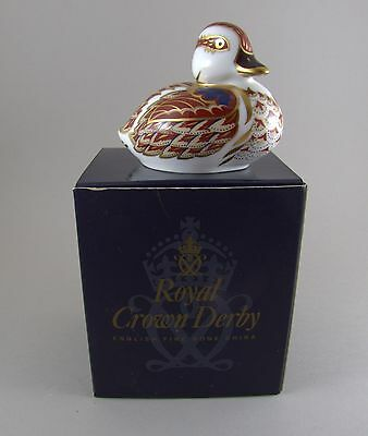 Royal Crown Derby Swimming Duckling Paperweight Gold 1st Quality Boxed