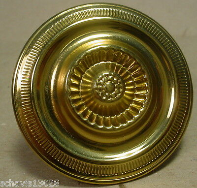 "Bright Brass 2 "" inch Diameter Cabinet Drawer Knob Handle Colonial Fine Details"