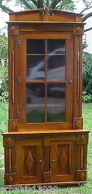 Antique Craftsman Victorian Corner Cabinet Newport PA Railroad Station Clean