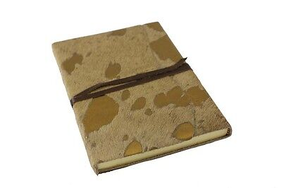 Italian PAPURO Leather Journal Ischia Large GOLD