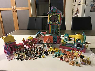 Teeny Weeny Families Collection Including Clock. Vintage 1990s Girls Toys.