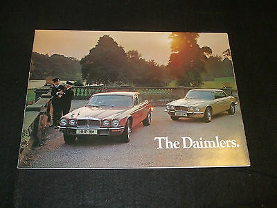 Daimler Sovereign & Double Six Series 2 1973-74 UK Brochure +Spec Sheet/Addendum