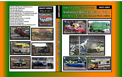 Race Video - Unlimited Bangers Action Vol 4. (Mildenhall)   6 disc Boxset £20.00