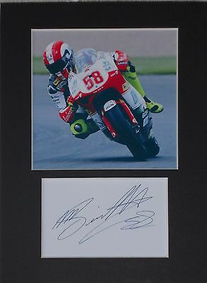 Marco Simoncelli superbike signed mounted autograph 8x6 photo print display #A5M