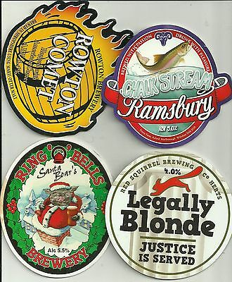 4 Various Brewery used pump clips as scan. (25)
