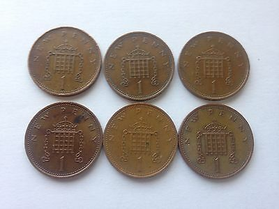 6 x New Penny 1p Rare Coin collectable New Pence