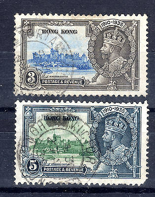 Hong Kong 3 & 5cents Jubilee fine used