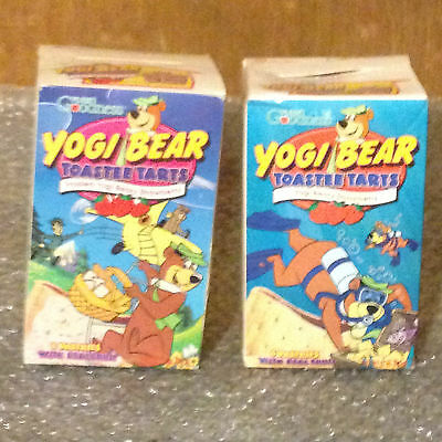 Two Vintage Yogi Bear Toastee Tarts Pastries Boxes Yogi Bear Watch Offer