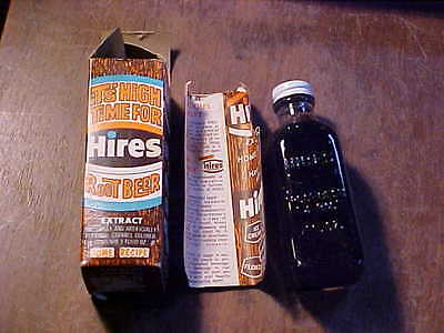 Vintage Hires Root Beer Extract w/Box Home Recipe