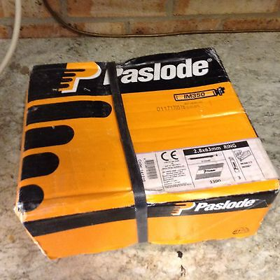 Paslode Im350 + 2.8 X 63mm Ring Galv+ 3300 Nails 3 Fuel Cells FREE POSTAGE