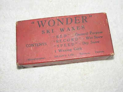 Vintage Wonder Ski Waxes Old Down Hill Ski Wax Tilley's Ltd. Canada