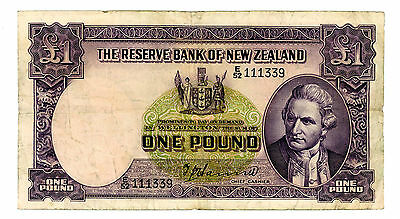 New Zealand ... P-159a ... 1 Pound ... ND(1940-55) ... *VF+*