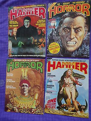 4 x THE  HOUSE OF HAMMER HORROR  no 12 - 14- 21- 22 dracula witchfinder general