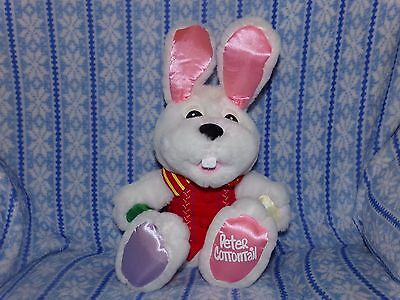 "Peter Cottontail Easter Bunny TALKING Plush Doll 15"" Tall Works - Free USA Ship"