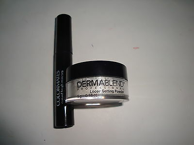 Dermablend Loose Setting Powder And Colormates Mascara