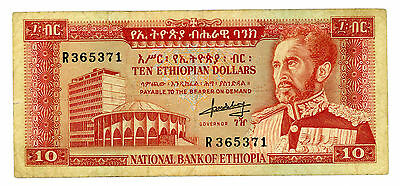 Ethiopia … P-27a … 10 Dollars … ND(1966) … *VF-XF*
