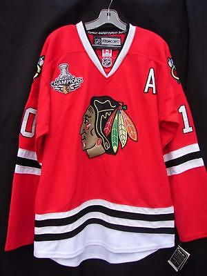 Patrick Sharp Chicago Blackhawks 2010 Stanley Cup Reebok Authentic Jersey New 52