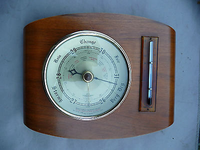 Vintage 1950S  Shortland Bowen (Sb) Wall Mounted  Barometer & Thermometer