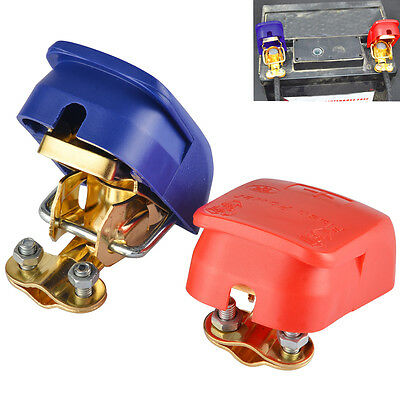 New 1Pair Car Auto Caravan Boat Motorhome Quick Release Battery Terminals Clamps