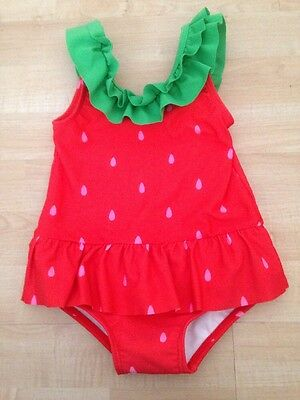 Gymboree Strawberry Sweetheart Toddler Girl's Bathing Suit Swimsuit 3 3T