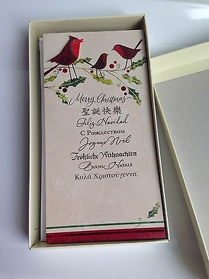 NEW! Christmas Holiday Boxed Cards, 12-Cards, Hallmark, Many Languages