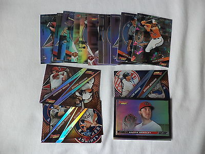Bowman's Best 2015 Baseball Trading Cards Lot Of 17 Refractor Cards