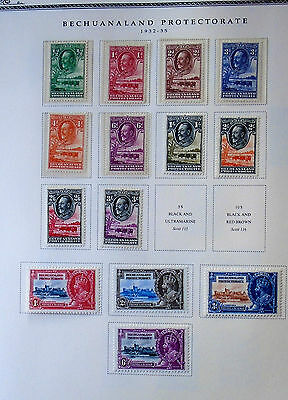 Gv 1932/35 Bechuanaland Mint Selection To 3/- On Album Page Sg Cat £140+ L@@k!!!