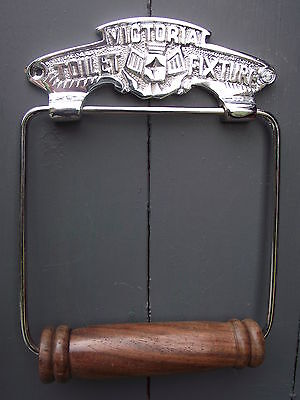 Victoria Toilet Fixture~Vintage Style Nickel Roll Holder old victorian style