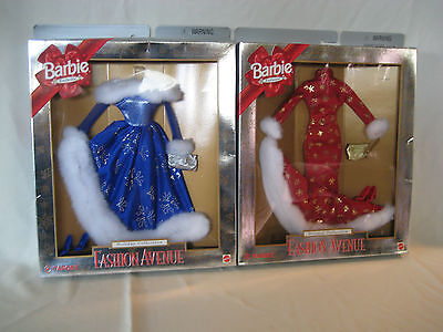 """Barbie """"Fashion Avenue"""" Holiday Collection Set 1999 made for Target"""