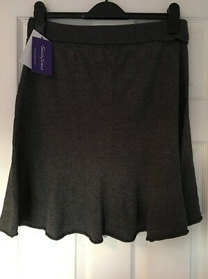 BNWT Seraphine Maternity Grey Knitted Skirt Size 12
