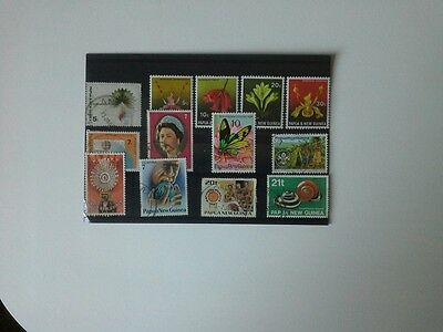 Papua New Guinea - Small Selection of Stamps Issued Between 1968 and 1991