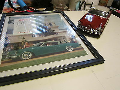 1953 Studebaker Commander Ad And 1:18 Scale Diecast