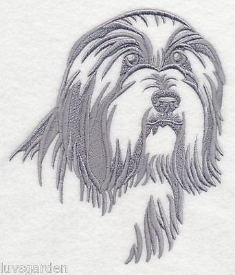 Bearded Collie Silhouette Dog BATHROOM SET HAND TOWELS EMBROIDERED By Vicki