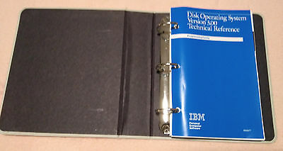 """Paperware: Originales Manual IBM DOS Technical Reference """"Disk Operating System"""""""