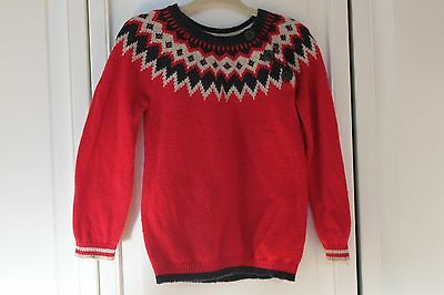 Baby Boden red fair isle christmas sweater 18-14 months
