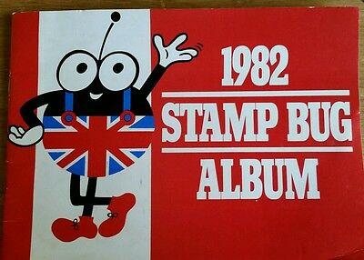 1982 Stamp Bug Album complete with mint stamps