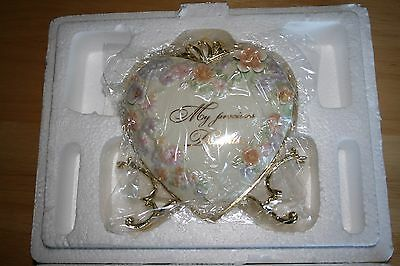 """Bradford Exchange """"My Precious Daughter"""" Blessed with Love Tabletop Heart Locket"""