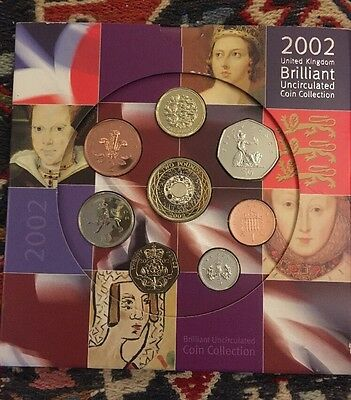 2002 Royal Mint UNCIRCULATED 8 coin set Definitive