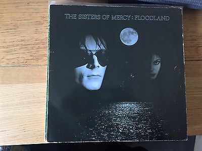 The Sisters of Mercy - Floodland Original 1987 Vinyl with Original Insert poster