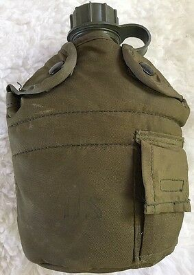 US Military Canteen Case Tactical Survival Field Gear 1 Quart Army Green