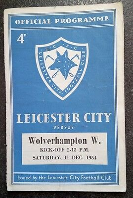 Leicester City v Wolverhampton Wanderers 1954/5