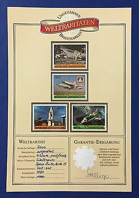 Rep. Centrafricaine 1981 Apollo Xv Series Of 4 Imperforated Mnh** With Garantie
