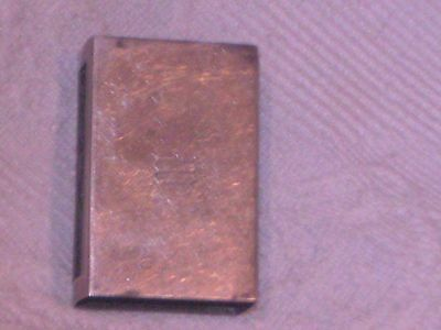 a vintage rare solid silver match box holder stamp shreve and co sterling